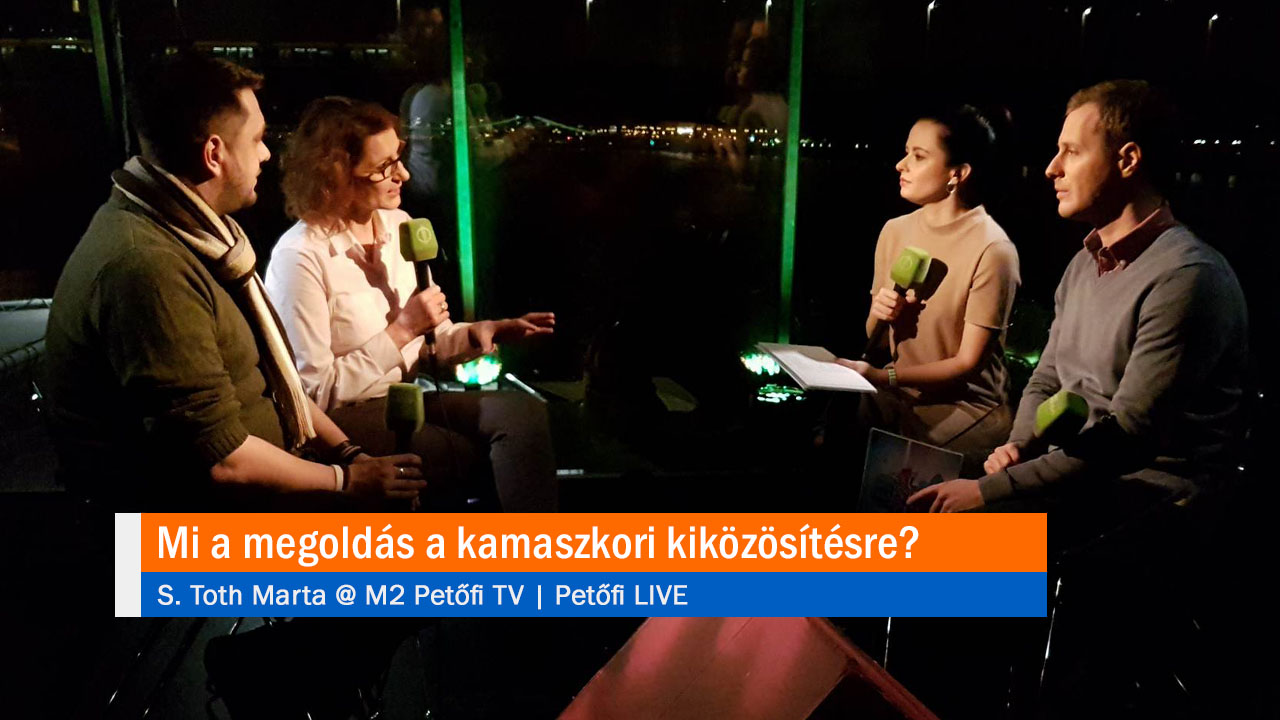 Mi a megoldás a kamaszkori kiközösítésre? S. Toth Marta @ M2 Petőfi TV PetőfiLIVE