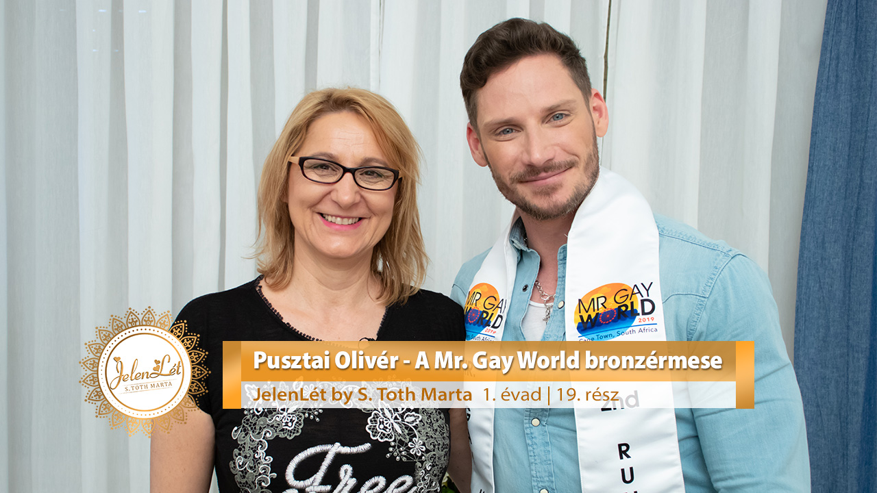 JelenLét by S. Toth Marta: Pusztai Olivér - A Mr. Gay World bronzérmese