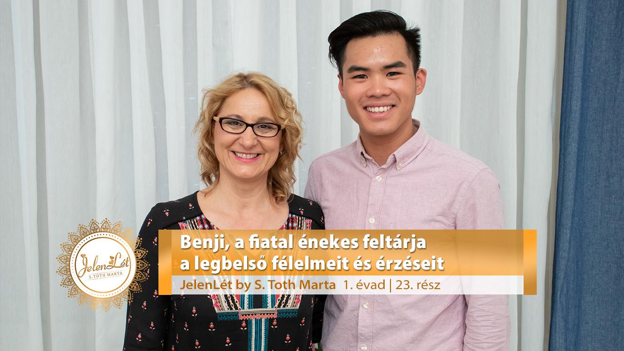 JelenLét by S. Tóth Márta - Benji, a fiatal énekes feltárja a legbelső félelmeit és érzéseit